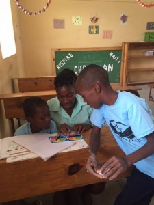 Photo of class room and students at Respire Haiti