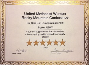 UMW Recognition Certificate for Parker UMC