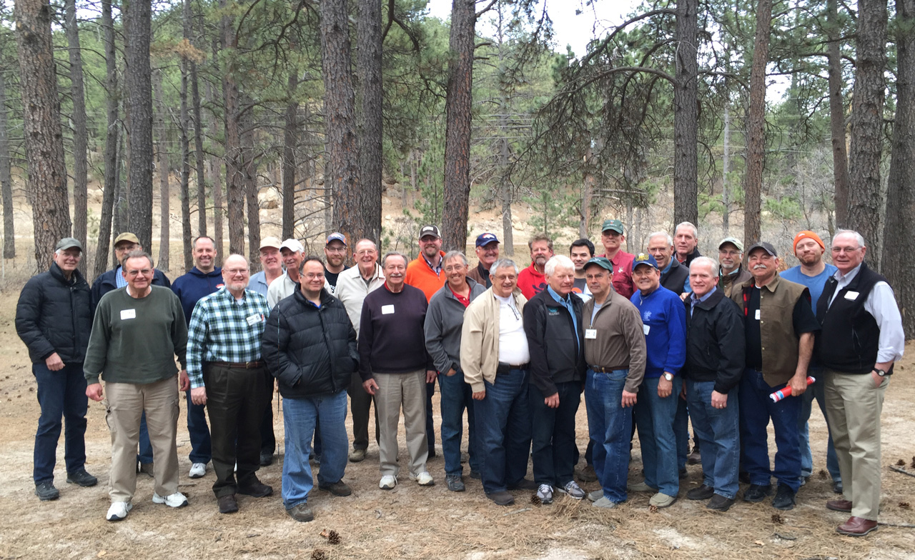 Photo of the 2016 attendees of the Men's Retreat