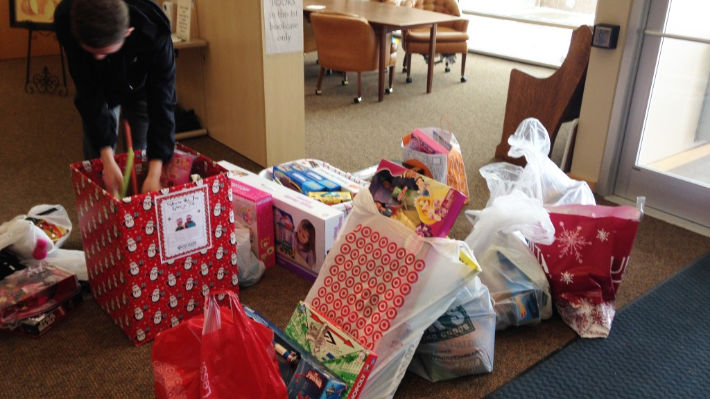 Photo of all of toys donated to Denver Inner City Parish by Parker UMC in 2015