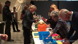 Members of Parker UMC packing UMCOR Relief Kits