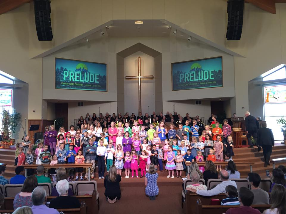 Joyful Noise production in the sanctuary at Parker UMC.