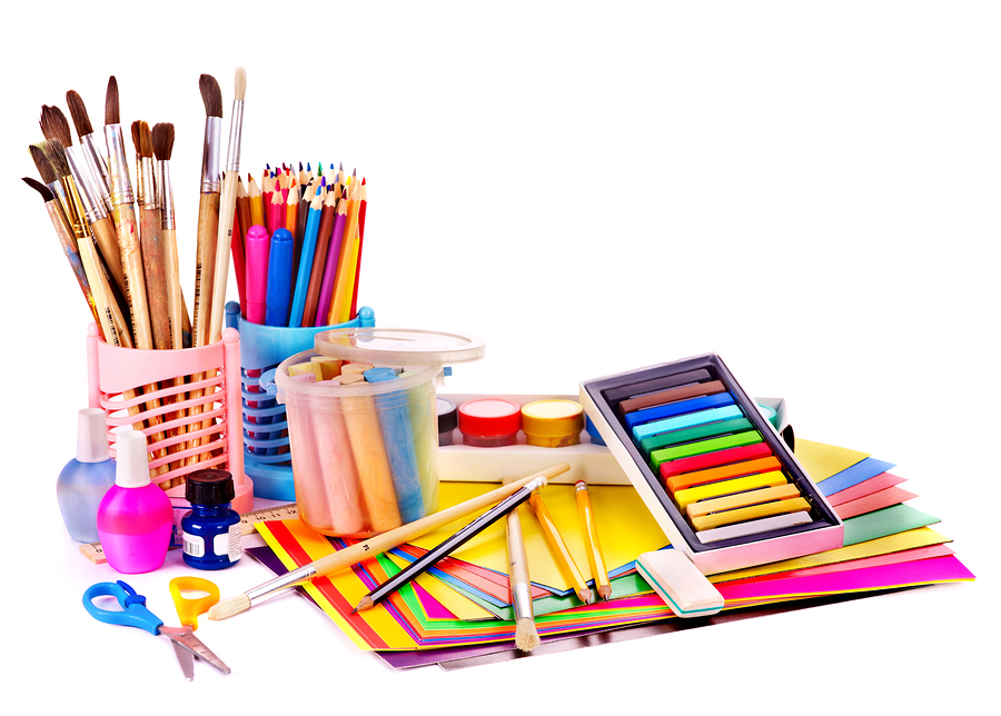 back to school supplies isolated parker united methodist church