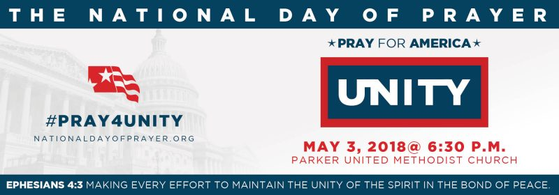 National Day of Prayer location and details.